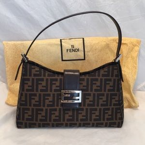 Authentic Fendi Zucca shoulder bag.